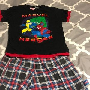 Marvel Heroes pajama set size 7
